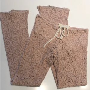 Jens Pirate booty pink lace pant size S